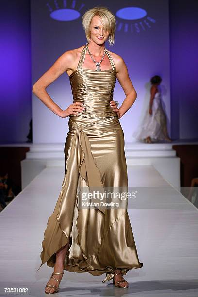 Model showcases a design by Jenny Bannister at Salon Show 4 on the fifth day of the L'Oreal Melbourne Fashion Festival 2007 at the Prahran Town Hall...