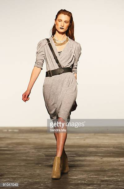 A model showcases a design by Kate Sylvester on day two of Air New Zealand Fashion Week 2009 at Shed 6 on September 23 2009 in Auckland New Zealand