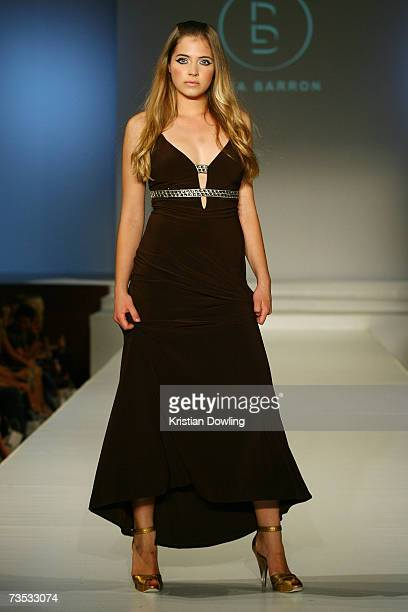 Model showcases a design by Lisa Barron at Salon Show 4 on the fifth day of the L'Oreal Melbourne Fashion Festival 2007 at the Prahran Town Hall on...