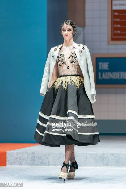 A model showcases design by Opulence during the Hong Kong Fashion Week 2019 For Fall/Winter on January 15 2019 in Hong Kong Hong Kong HONG KONG HONG...