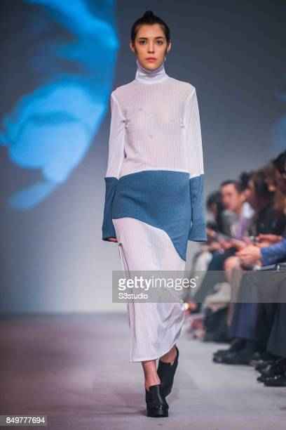 Model showcases design Private Confidential by VIVW during the Visceral Instinct show by Raffles Hong Kong as part of the Fashion Week for Spring /...
