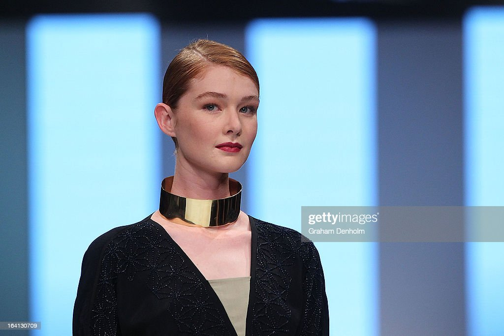 A model showcases designs by Akira on the runway at the L'Oreal Paris Runway 1 show during day three of L'Oreal Melbourne Fashion Festival on March 20, 2013 in Melbourne, Australia.