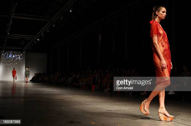 A model showcases designs by Akira on the runway during Fashion Palette 2013 on March 7 2013 in Sydney Australia