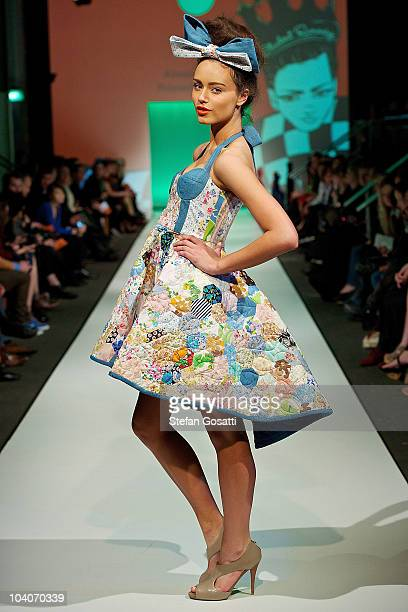 Model showcases designs by Alissia Gomez during the Student Runway show as part of Perth Fashion Week 2010 at Fashion Paramount on September 13, 2010...