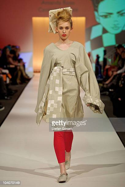 Model showcases designs by Amanda Rose during the Student Runway show as part of Perth Fashion Week 2010 at Fashion Paramount on September 13, 2010...