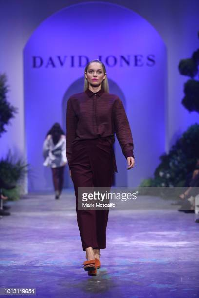 A model showcases designs by Bodice during the David Jones Spring Summer 18 Collections Launch at Fox Studios on August 8 2018 in Sydney Australia