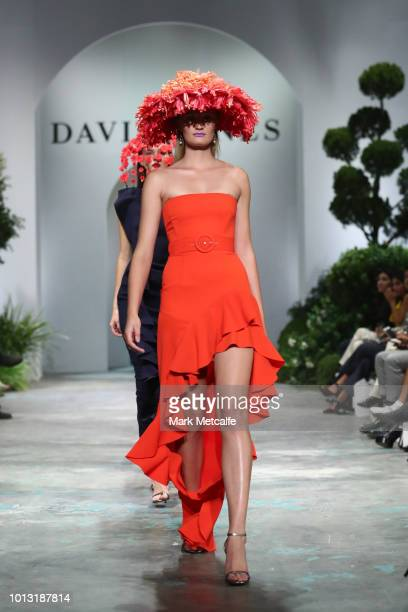 A model showcases designs by By Johnny during the David Jones Spring Summer 18 Collections Launch at Fox Studios on August 8 2018 in Sydney Australia