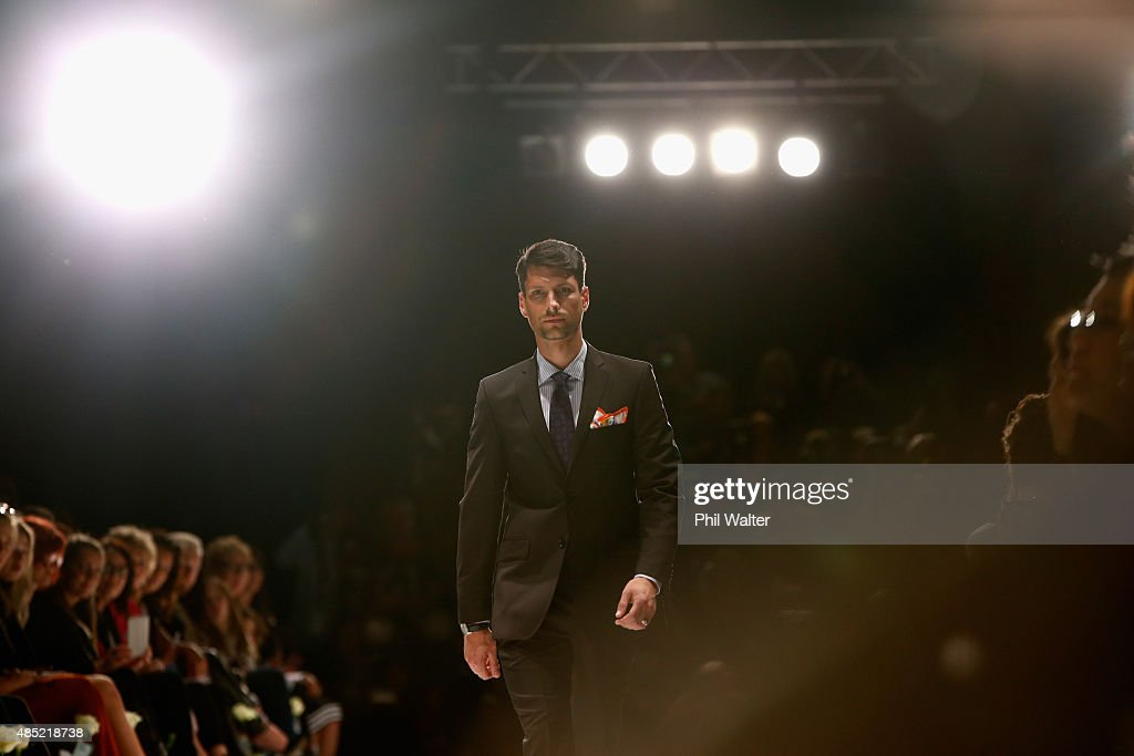 A model showcases designs by Crane Brothers during the New Zealand Weddings Magazine Collection show at New Zealand Fashion Week 2015 on August 26, 2015 in Auckland, New Zealand.