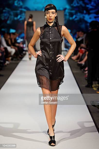 Model showcases designs by Daniella Caputi during the WA Designers Collection 2 catwalk show as part of Perth Fashion Week 2010 at Fashion Paramount...