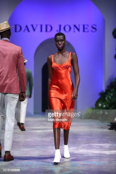 A model showcases designs by Dion Lee during the David Jones Spring Summer 18 Collections Launch at Fox Studios on August 8 2018 in Sydney Australia