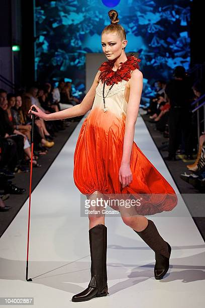 Model showcases designs by Empire Rose during the WA Designers Collection 1 catwalk show as part of Perth Fashion Week 2010 at Fashion Paramount on...