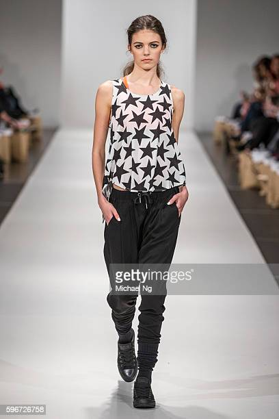 A model showcases designs by Federation for their Spring catalog on the runway during 2016 New Zealand Fashion Week on August 27 2016 in Auckland New...