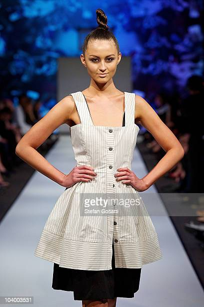 Model showcases designs by Fenella Peacock during the WA Designers Collection 1 catwalk show as part of Perth Fashion Week 2010 at Fashion Paramount...