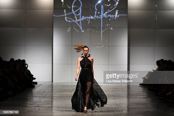 Model showcases designs by Gemeli Power on the runway during Fashion Palette 2013 on March 7, 2013 in Sydney, Australia.