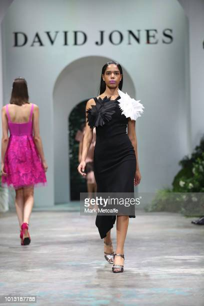 A model showcases designs by Ginger and Smart during the David Jones Spring Summer 18 Collections Launch at Fox Studios on August 8 2018 in Sydney...