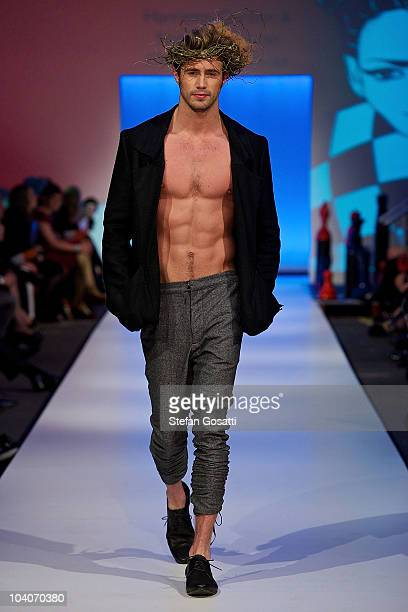 Model showcases designs by Harriette Gordon & Natalie Donovan during the Student Runway show as part of Perth Fashion Week 2010 at Fashion Paramount...