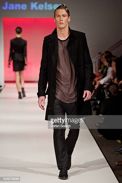 Model showcases designs by Jane Kelsey during the Student Runway show as part of Perth Fashion Week 2010 at Fashion Paramount on September 13, 2010...