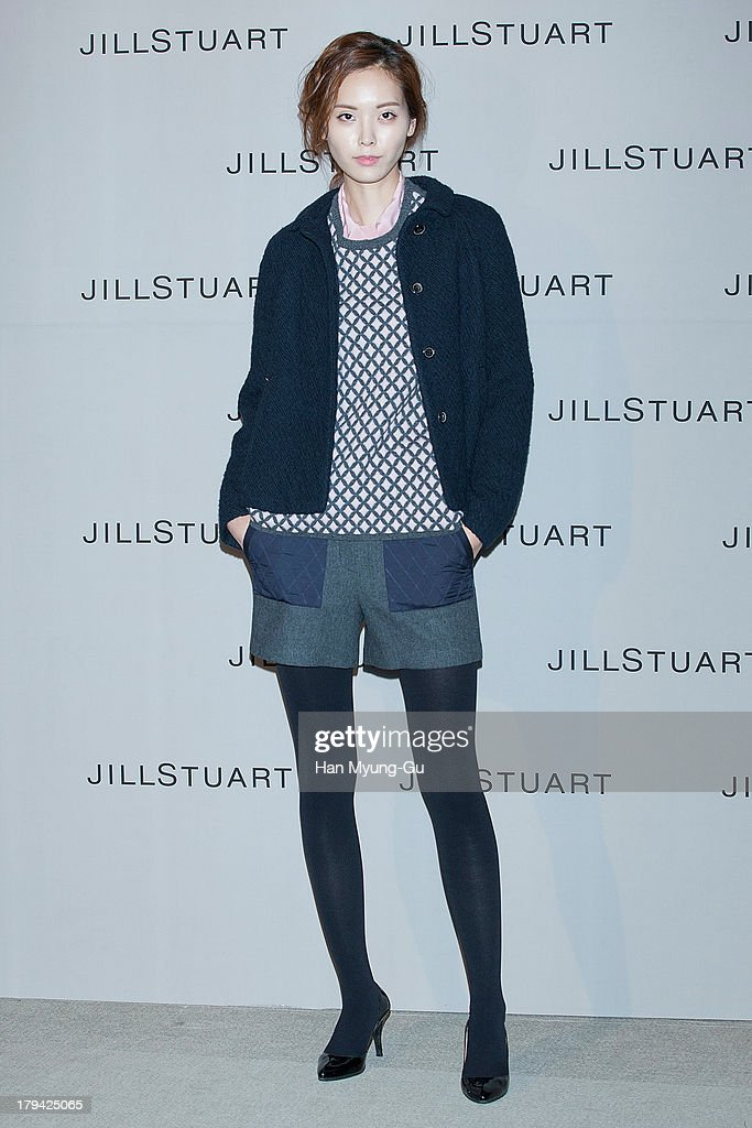 A model showcases designs by Jill Stuart on the catwalk during the presentation of Jill Stuart 2013 A/W collection at LG Fashion RAUM on September 3, 2013 in Seoul, South Korea.