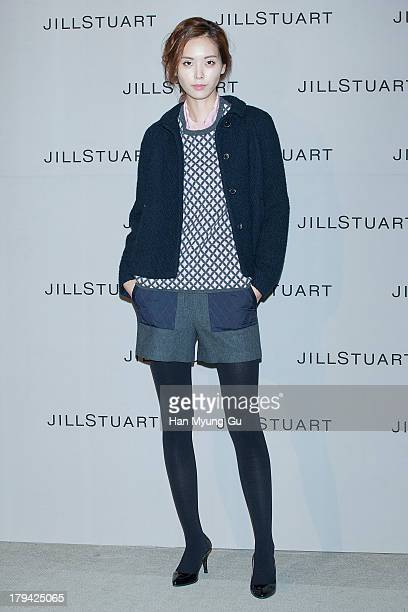 A model showcases designs by Jill Stuart on the catwalk during the presentation of Jill Stuart 2013 A/W collection at LG Fashion RAUM on September 3...