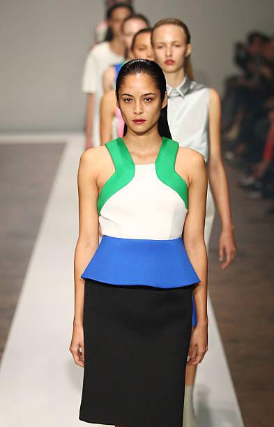 4efec498dca7 A model showcases designs by Josh Goot on the catwalk during Rosemount  Australian Fashion Week Spring