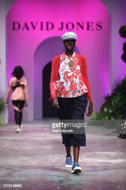 A model showcases designs by Karen Walker during the David Jones Spring Summer 18 Collections Launch at Fox Studios on August 8 2018 in Sydney...