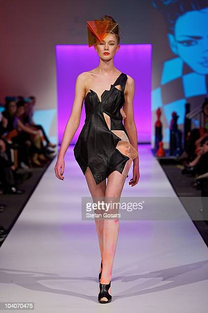 Model showcases designs by Kasia Kolikow during the Student Runway show as part of Perth Fashion Week 2010 at Fashion Paramount on September 13, 2010...