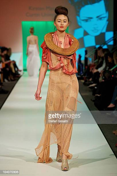 Model showcases designs by Kirsten Masgai during the Student Runway show as part of Perth Fashion Week 2010 at Fashion Paramount on September 13,...