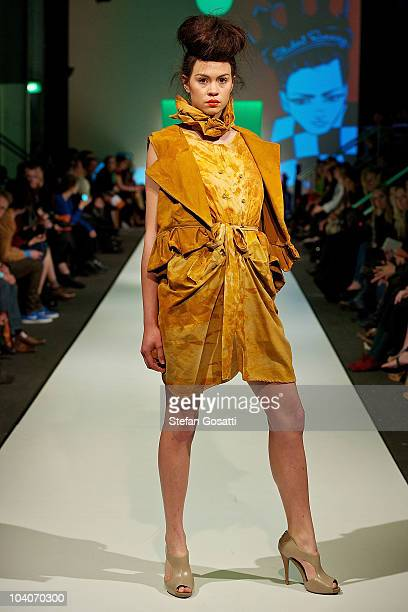 Model showcases designs by Lauren Hung during the Student Runway show as part of Perth Fashion Week 2010 at Fashion Paramount on September 13, 2010...