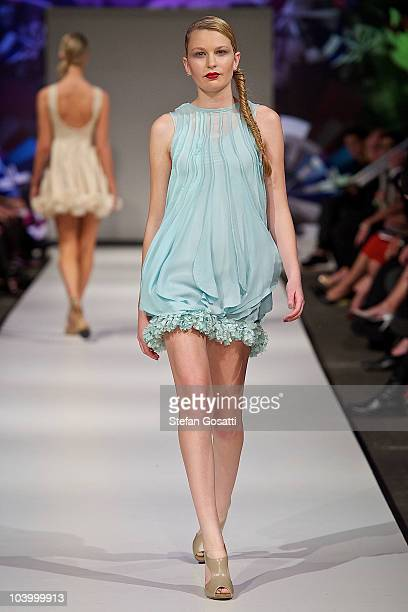 Model showcases designs by Lonely As A Cloud during the WA Designers Collection 2 catwalk show as part of Perth Fashion Week 2010 at Fashion...