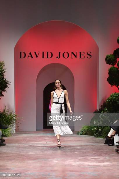 A model showcases designs by Manning Cartell during the David Jones Spring Summer 18 Collections Launch at Fox Studios on August 8 2018 in Sydney...