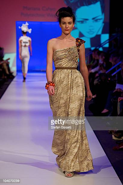 Model showcases designs by Mariana Cahyo during the Student Runway show as part of Perth Fashion Week 2010 at Fashion Paramount on September 13, 2010...