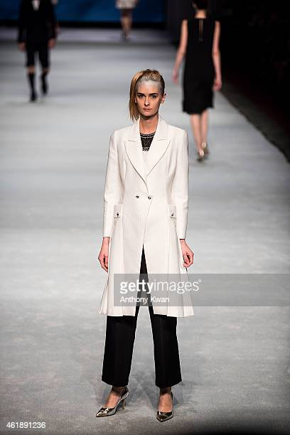 Model showcases designs by MOISELLE on the runway during the MOISELLE Spring/Summer 2015 Fashion Show on day 3 of Hong Kong Fashion Week Fall/Winter...