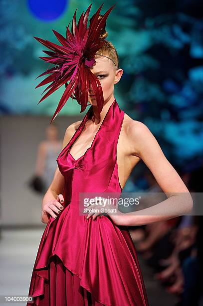 Model showcases designs by Of Cabbages and Kings during the WA Designers Collection 1 catwalk show as part of Perth Fashion Week 2010 at Fashion...