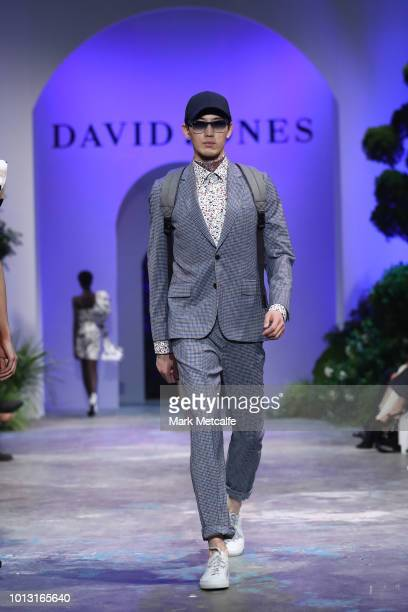 A model showcases designs by Paul Smith during the David Jones Spring Summer 18 Collections Launch at Fox Studios on August 8 2018 in Sydney Australia
