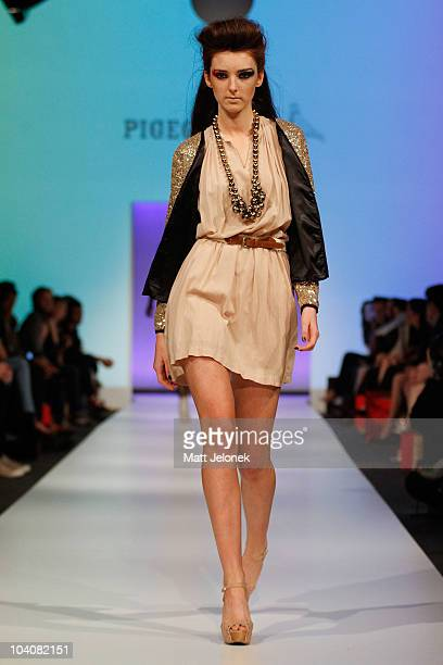 Model showcases designs by Pigeonhole during the Fifteen Minutes - Rise of the Fashion Bloggers collection catwalk show as part of Perth Fashion Week...