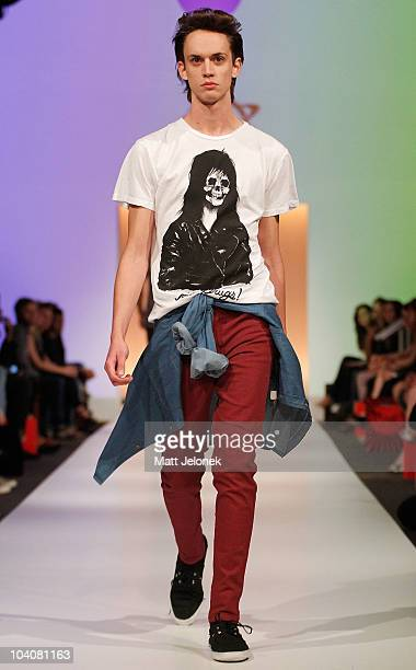 Model showcases designs by Planet during the Fifteen Minutes - Rise of the Fashion Bloggers collection catwalk show as part of Perth Fashion Week...