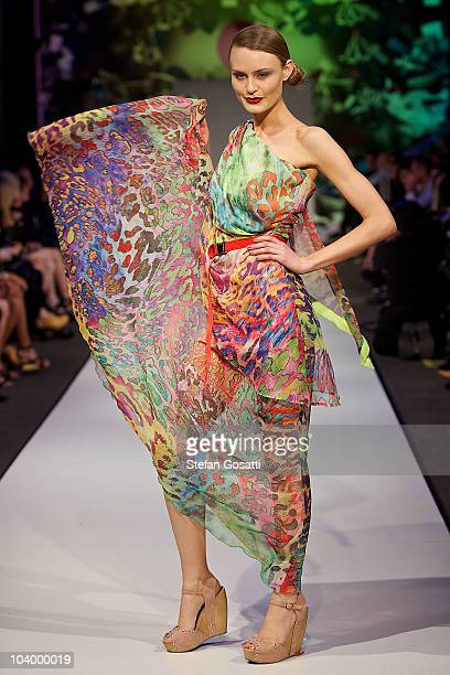 Model showcases designs by Poppy Lissiman during the WA Designers Collection 2 catwalk show as part of Perth Fashion Week 2010 at Fashion Paramount...