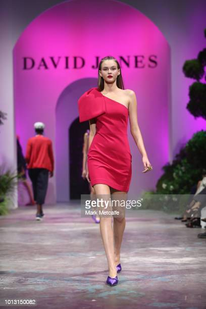 A model showcases designs by Rebecca Vallance during the David Jones Spring Summer 18 Collections Launch at Fox Studios on August 8 2018 in Sydney...