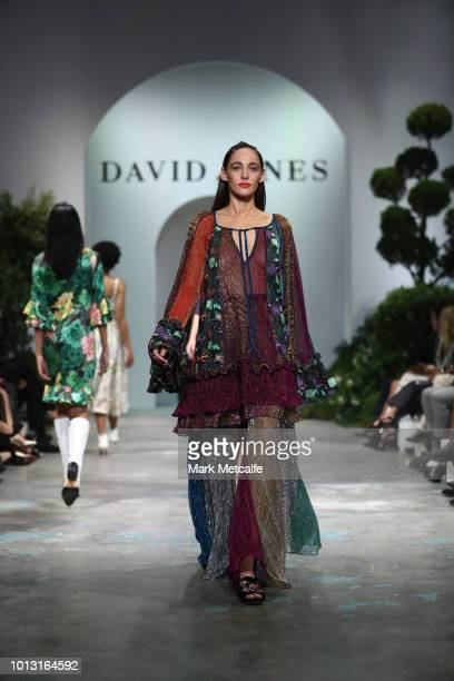 A model showcases designs by Romance Was Born during the David Jones Spring Summer 18 Collections Launch at Fox Studios on August 8 2018 in Sydney...