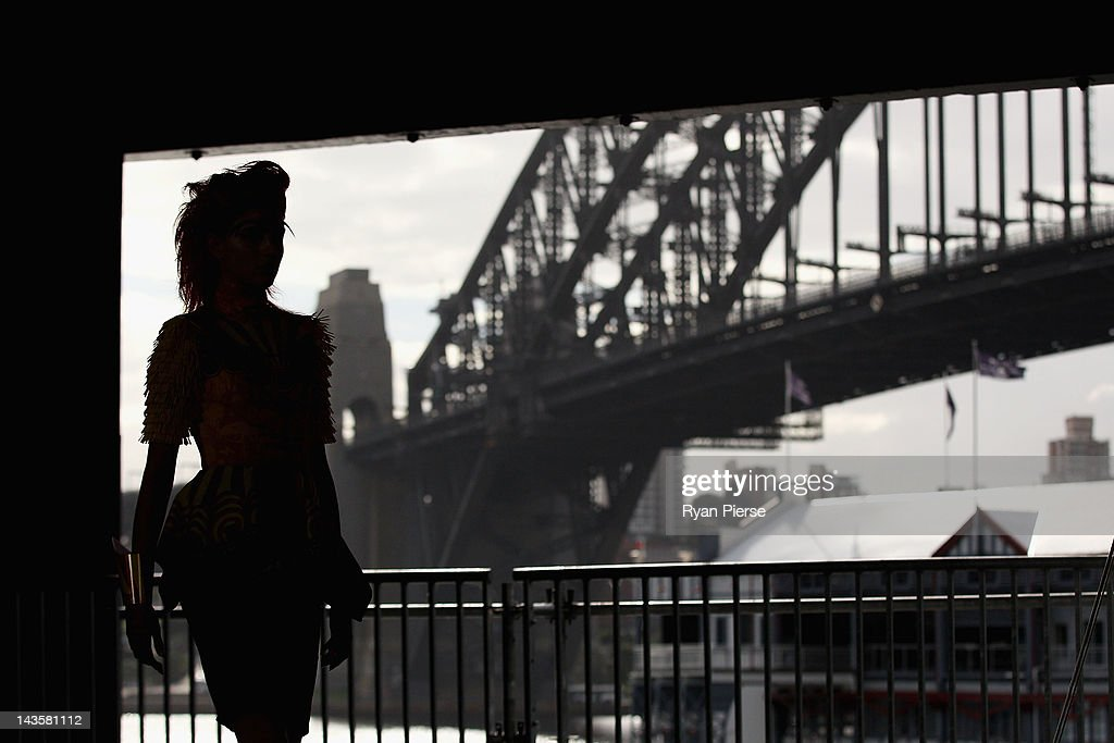 A model showcases designs by Romance Was Born on the catwalk on day one of Mercedes-Benz Fashion Week Australia Spring/Summer 2012/13 at Pier 2 on April 30, 2012 in Sydney, Australia.