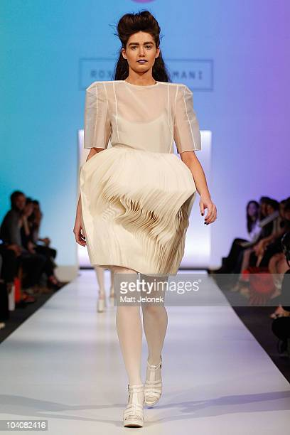 Model showcases designs by Roxanna Zamani during the Fifteen Minutes - Rise of the Fashion Bloggers collection catwalk show as part of Perth Fashion...