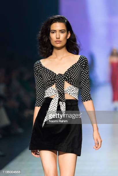 Model showcases designs by Sister at Melbourne Fashion Festival on March 9, 2019 in Melbourne, Australia.