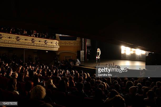 Model showcases designs by Stolen Girlfriends Club on the catwalk during New Zealand Fashion Week 2010 at Mercury Theatre on September 23, 2010 in...