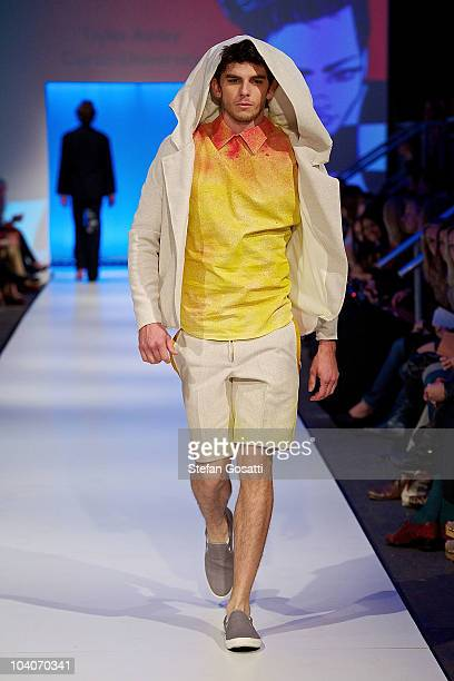 Model showcases designs by Tayler Ainley during the Student Runway show as part of Perth Fashion Week 2010 at Fashion Paramount on September 13, 2010...