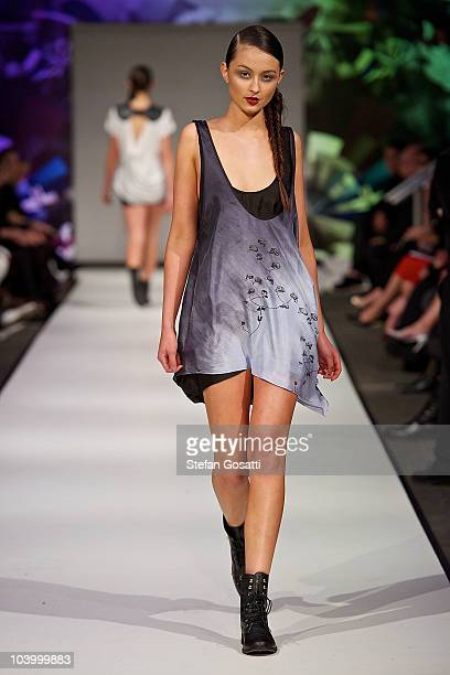 Model showcases designs by The Butcher and the Crow during the WA Designers Collection 2 catwalk show as part of Perth Fashion Week 2010 at Fashion...