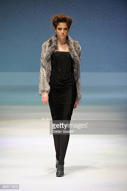 A model showcases designs by Treshei as part of the Brand Collections Show 2 on the catwalk as part of Hong Kong Fashion Week Fall/Winter 2009 at the...