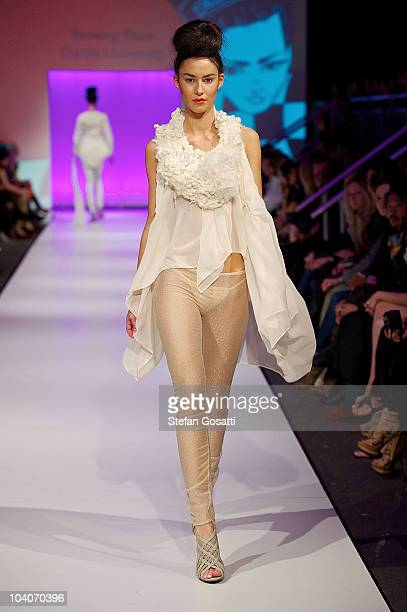 Model showcases designs by Yeewing Poon during the Student Runway show as part of Perth Fashion Week 2010 at Fashion Paramount on September 13, 2010...