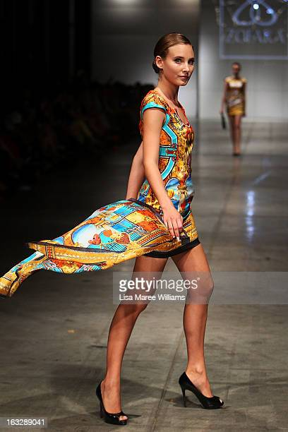 Model showcases designs by Zofara on the runway during Fashion Palette 2013 on March 7, 2013 in Sydney, Australia.