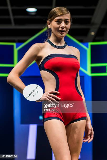 Model showcases designs of Square Root P on the runway on the Day 1 of the Hong Kong Fashion Week for Spring / Summer 2017 at the Hong Kong...