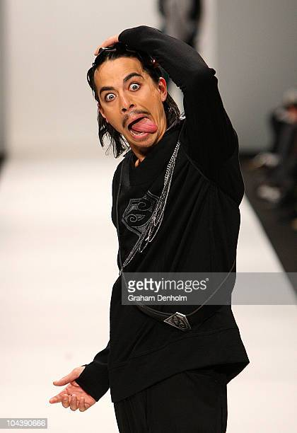 A model showcases designs on the catwalk by Amber Bridgman during the Mira Moda collection show during New Zealand Fashion Week 2010 on September 24...